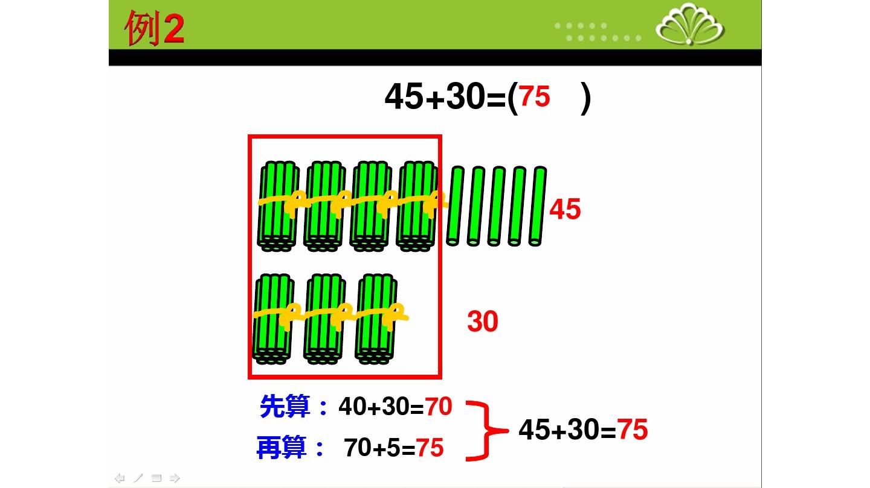 2.两位数加整十数�…PPT课件和第二课时教案的第7张ppt图片预览