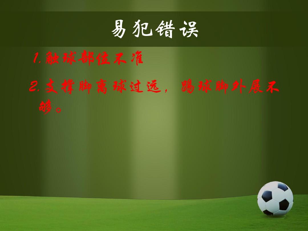 些微足球PPT和配套教案和课堂实录的程序5张ppt图预览