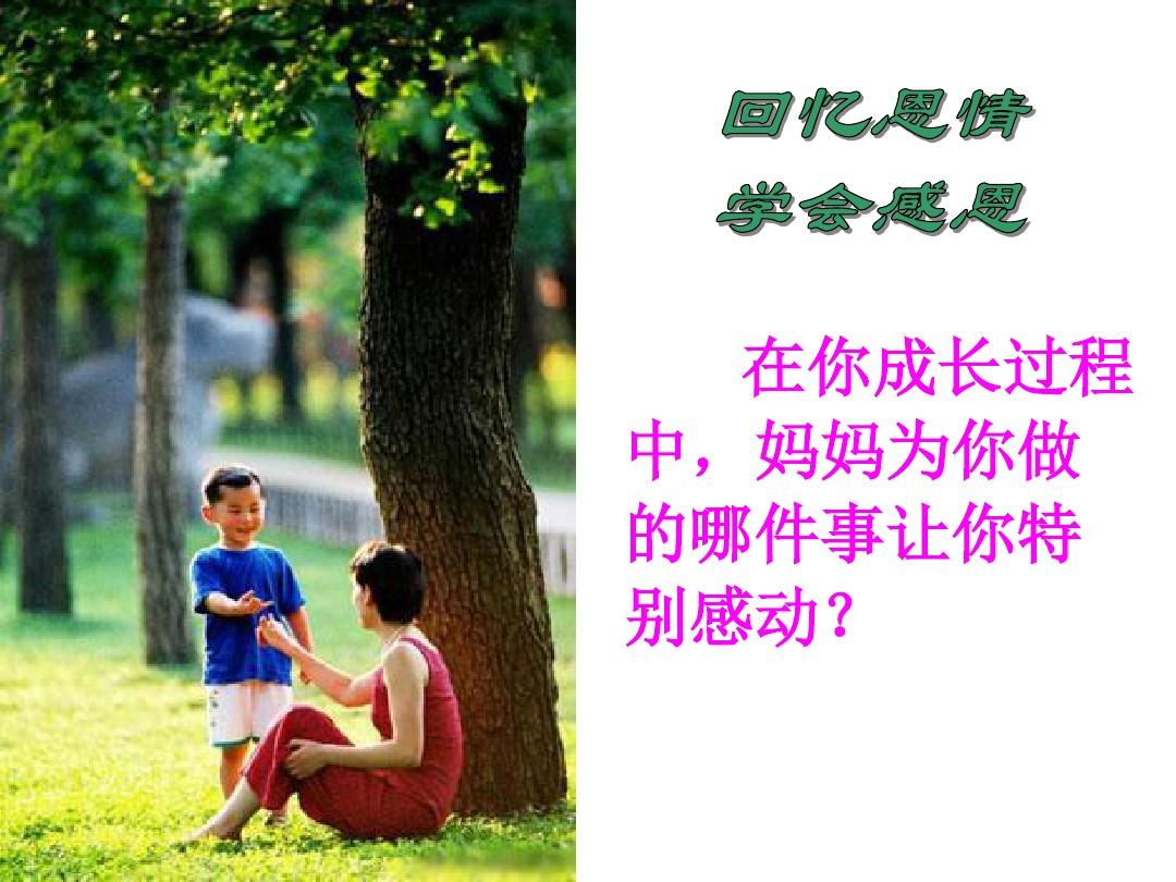 9 母亲的恩情PPT课件和名师教学设计2的第23张ppt图片预览