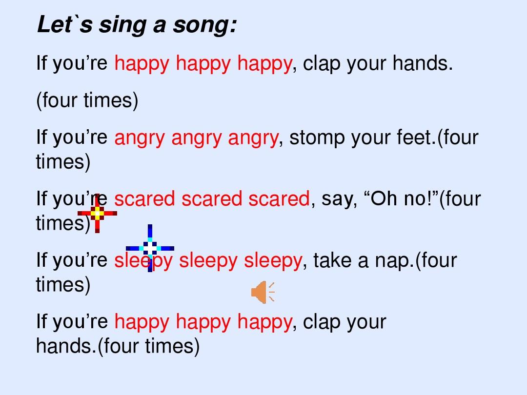 Lesson 16 Happy or SadPPT课件和教案评析的第4张ppt图片预览