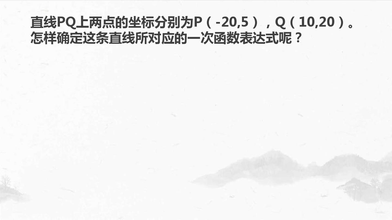 21.3 用待定系数法确定一次函数表达式PPT课件和教案设计(一等奖)的第2张ppt图片预览