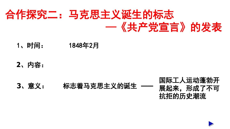 一 马克思主义的诞生PPT课件和第二课时 公开课的第15张ppt图片预览