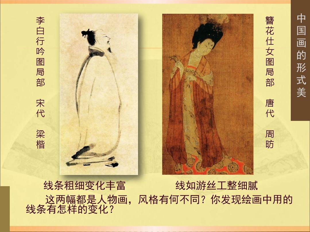 3.中国画的形式美PPT专用教学计划内容的顺序9张ppt图表预览