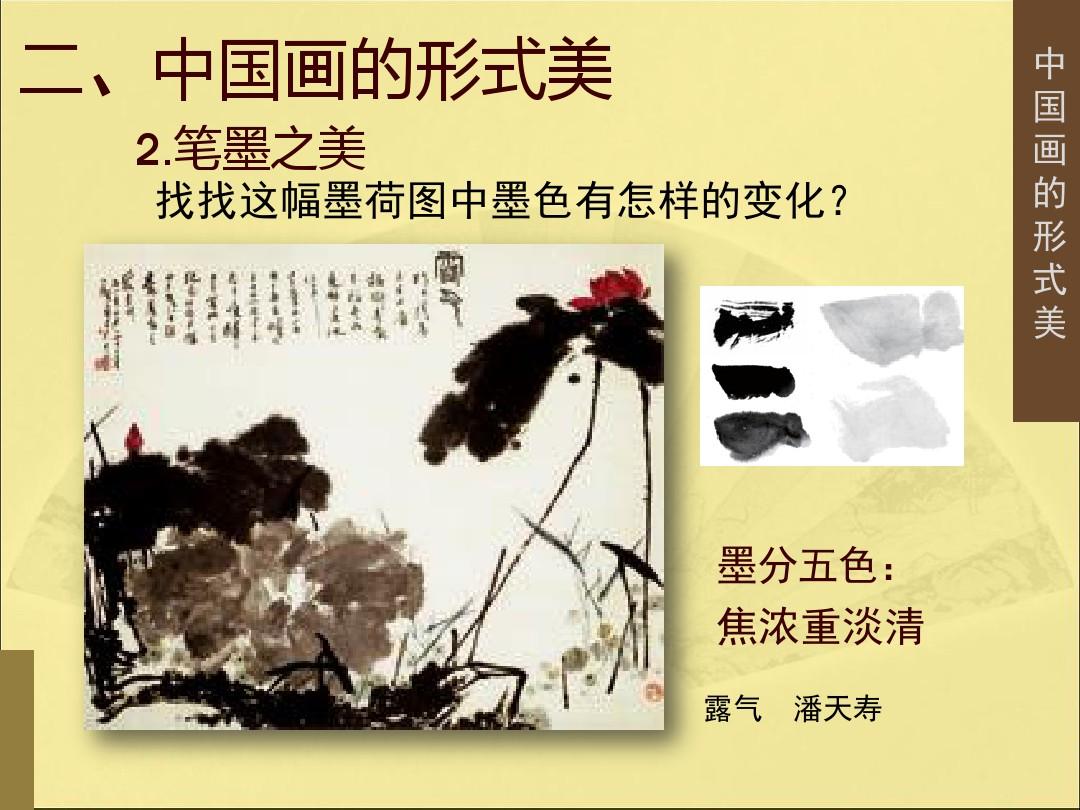 3.中国画的形式美PPT专用教学计划内容的顺序12张ppt图表预览