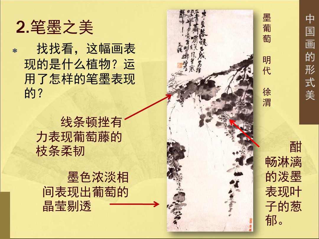 3.中国画的形式美PPT专用教学计划内容的顺序17张ppt图表预览