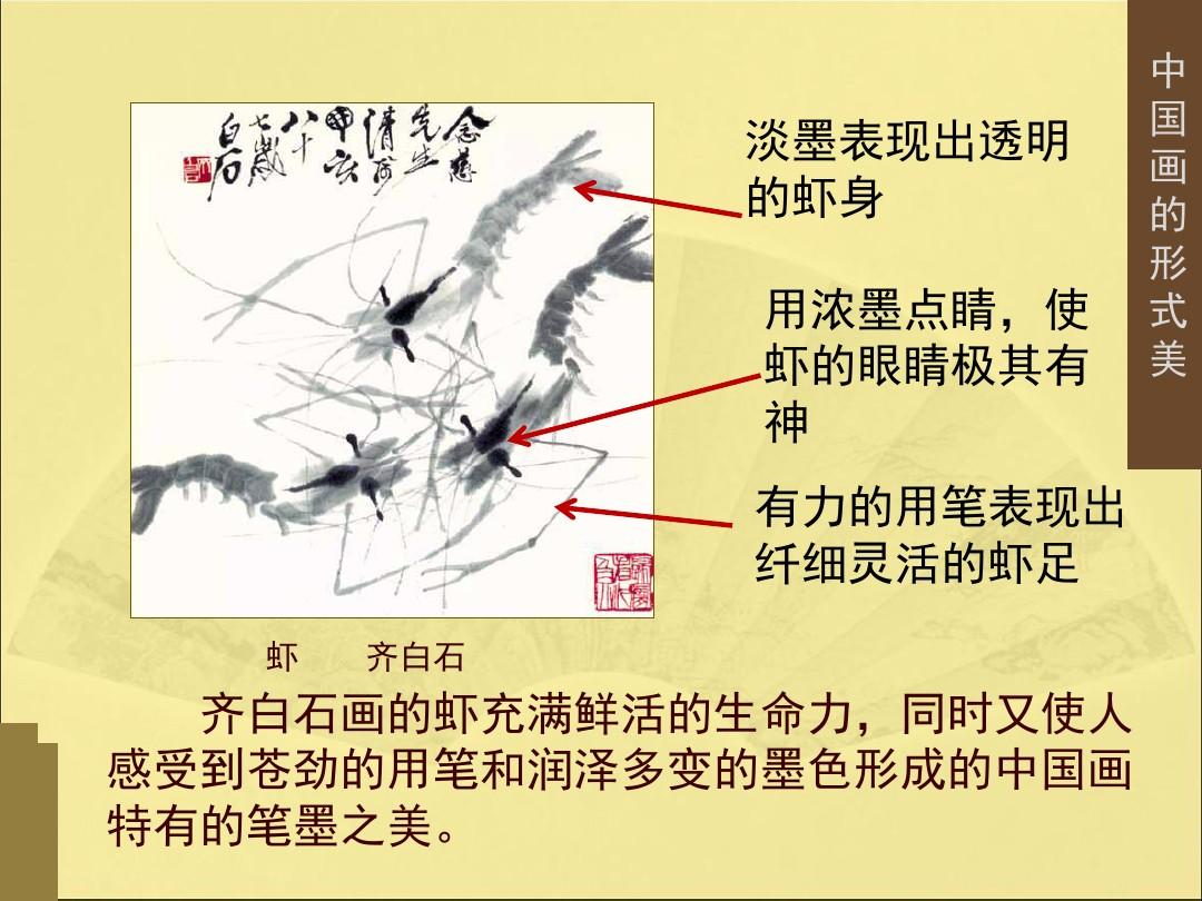 3.中国画的形式美PPT专用教学计划内容的顺序18张ppt图表预览