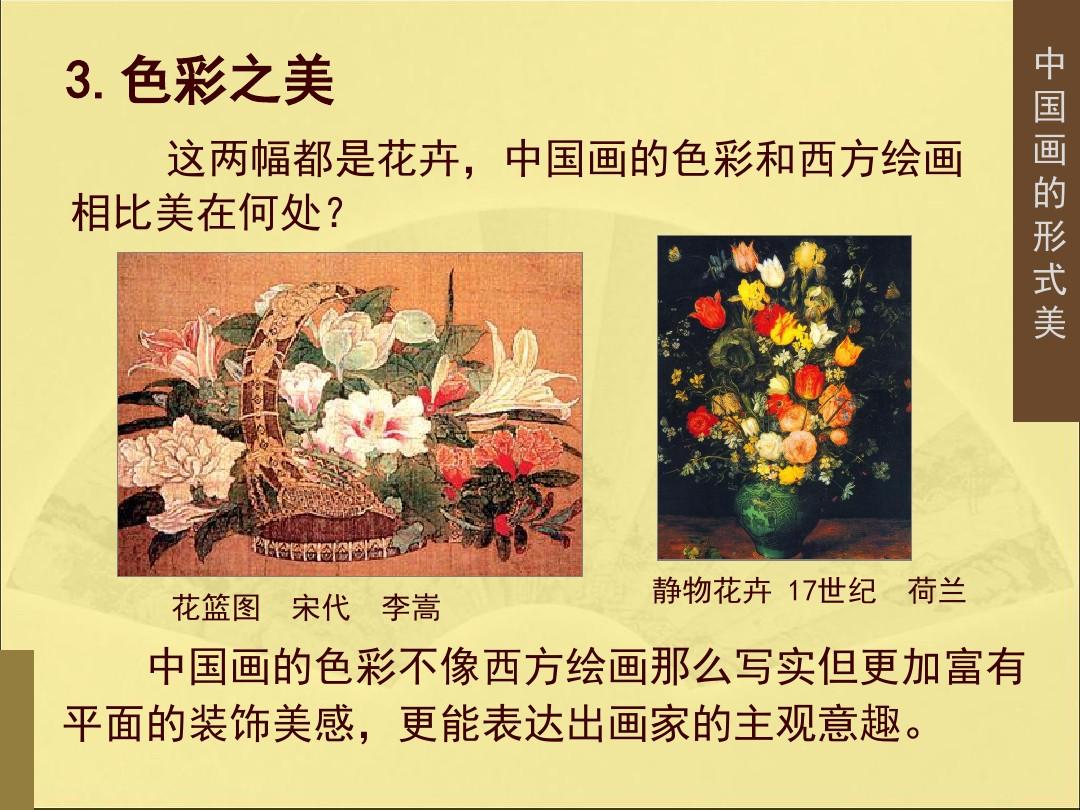 3.中国画的形式美PPT专用教学计划内容的顺序19张ppt图表预览