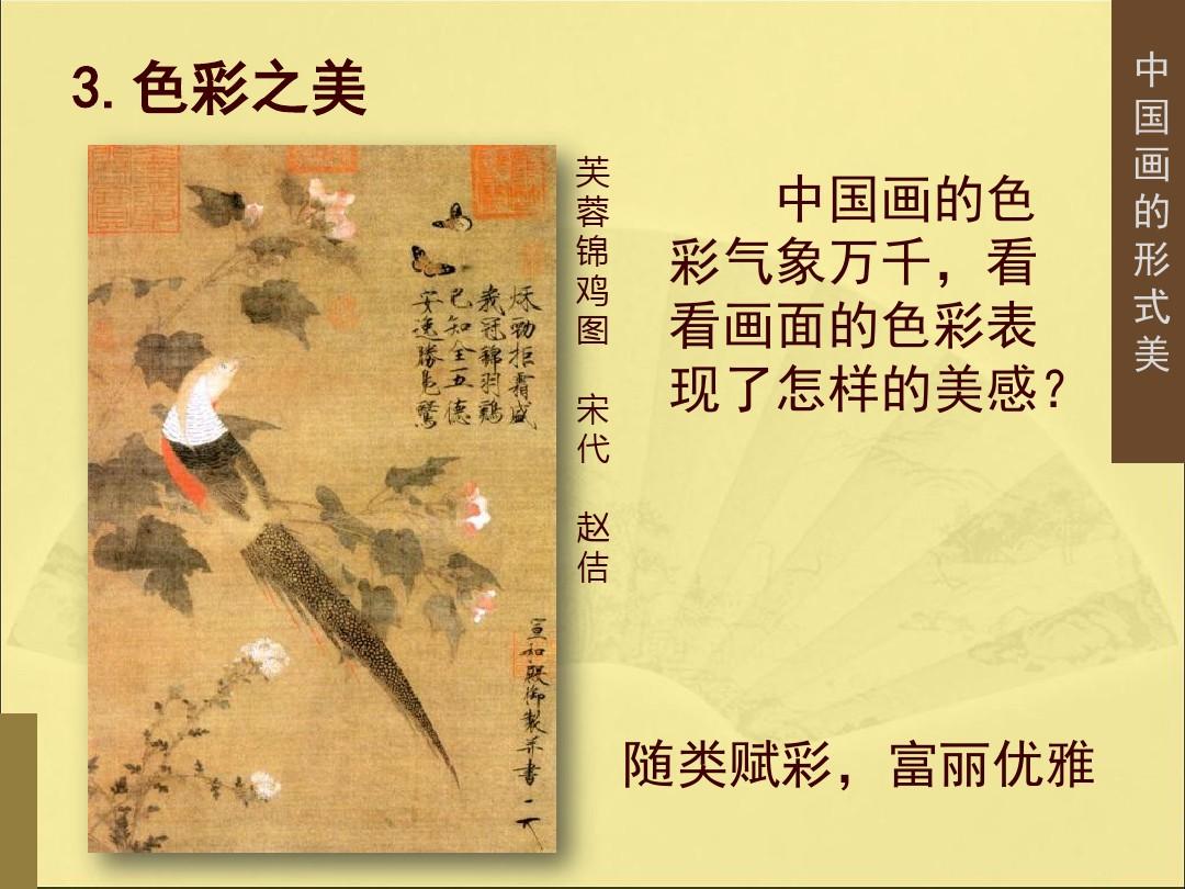 3.中国画的形式美PPT专用教学计划内容的顺序23张ppt图表预览