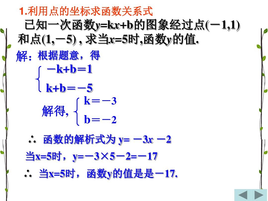 21.3 用待定系数法确定一次函数表达式课件优秀推荐的第7张ppt图片预览
