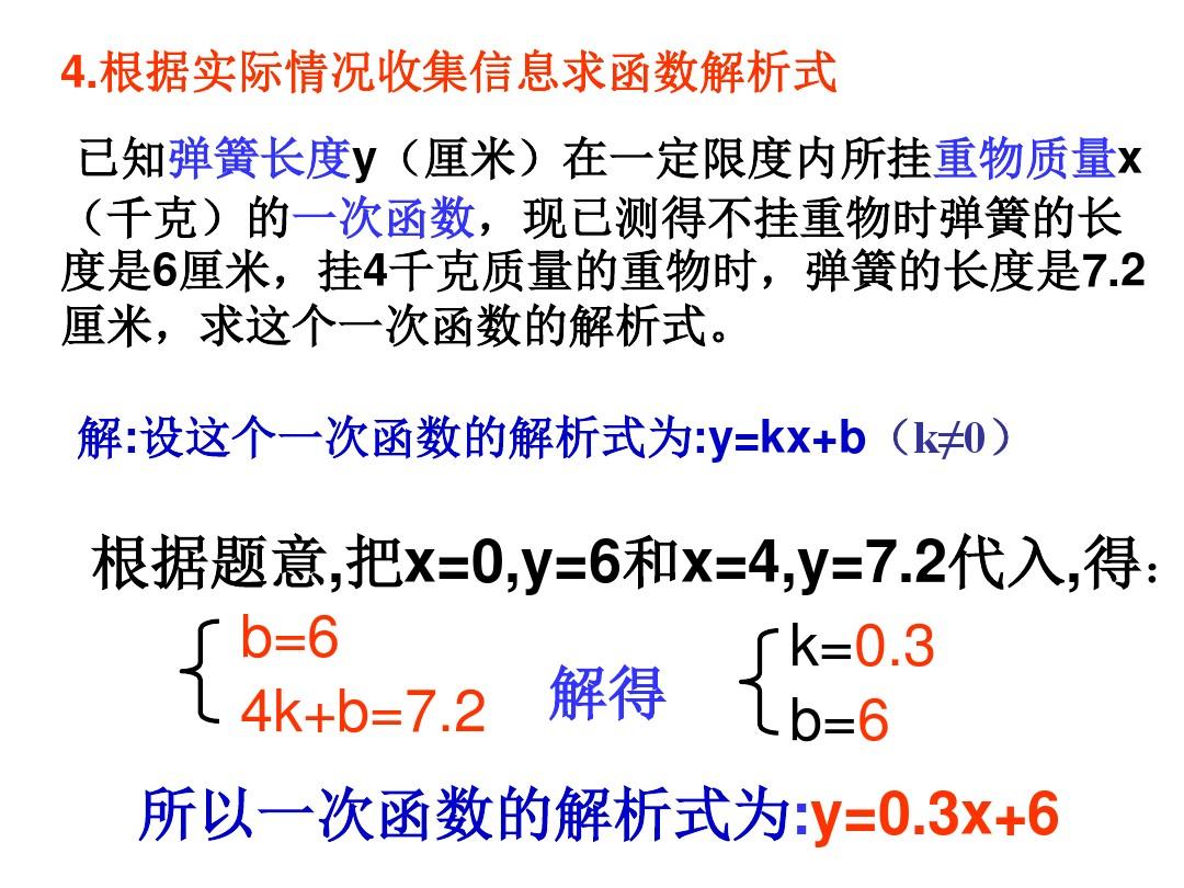 21.3 用待定系数法确定一次函数表达式课件优秀推荐的第11张ppt图片预览