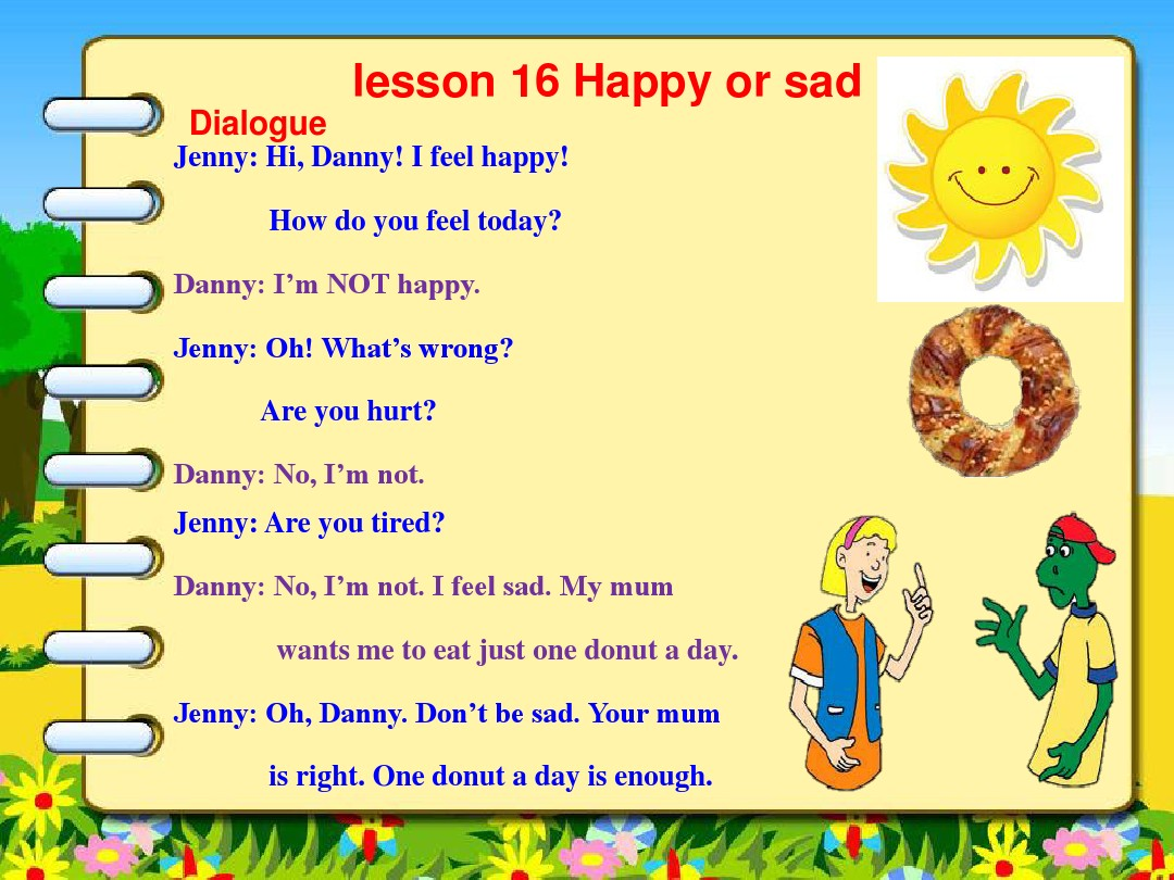 Lesson 16 Happy or SadPPT课件和评课稿的第10张ppt图片预览