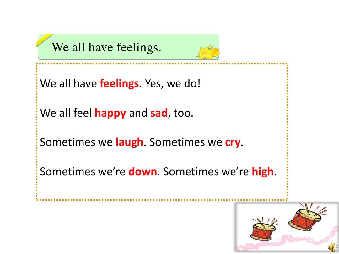 Lesson 16 Happy or SadPPT课件和评课稿的第12张ppt图片预览