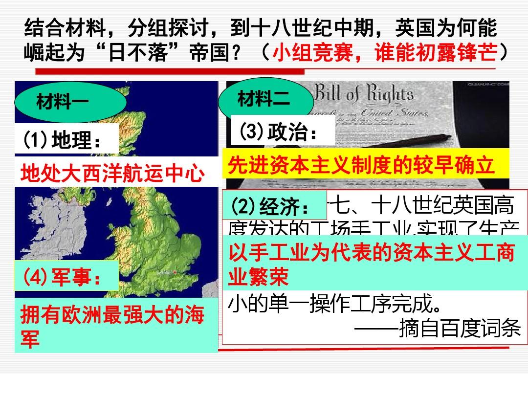 先后15课 殖民扩张与掠夺PPT专用教学计划内容的程序4张ppt图表预览