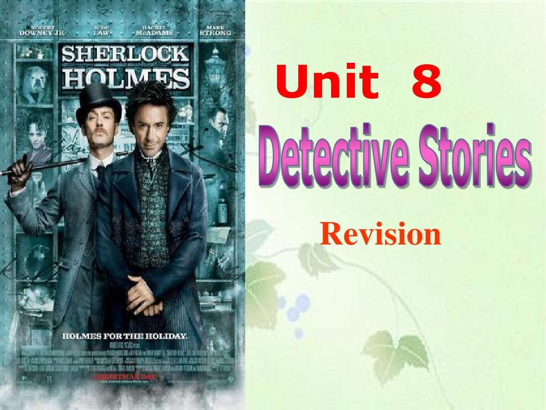 Task: A detective storyPPT课件配套教案内容的第1张ppt图片预览