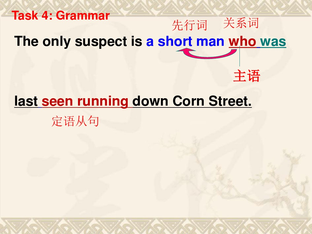 Task: A detective storyPPT课件配套教案内容的第18张ppt图片预览