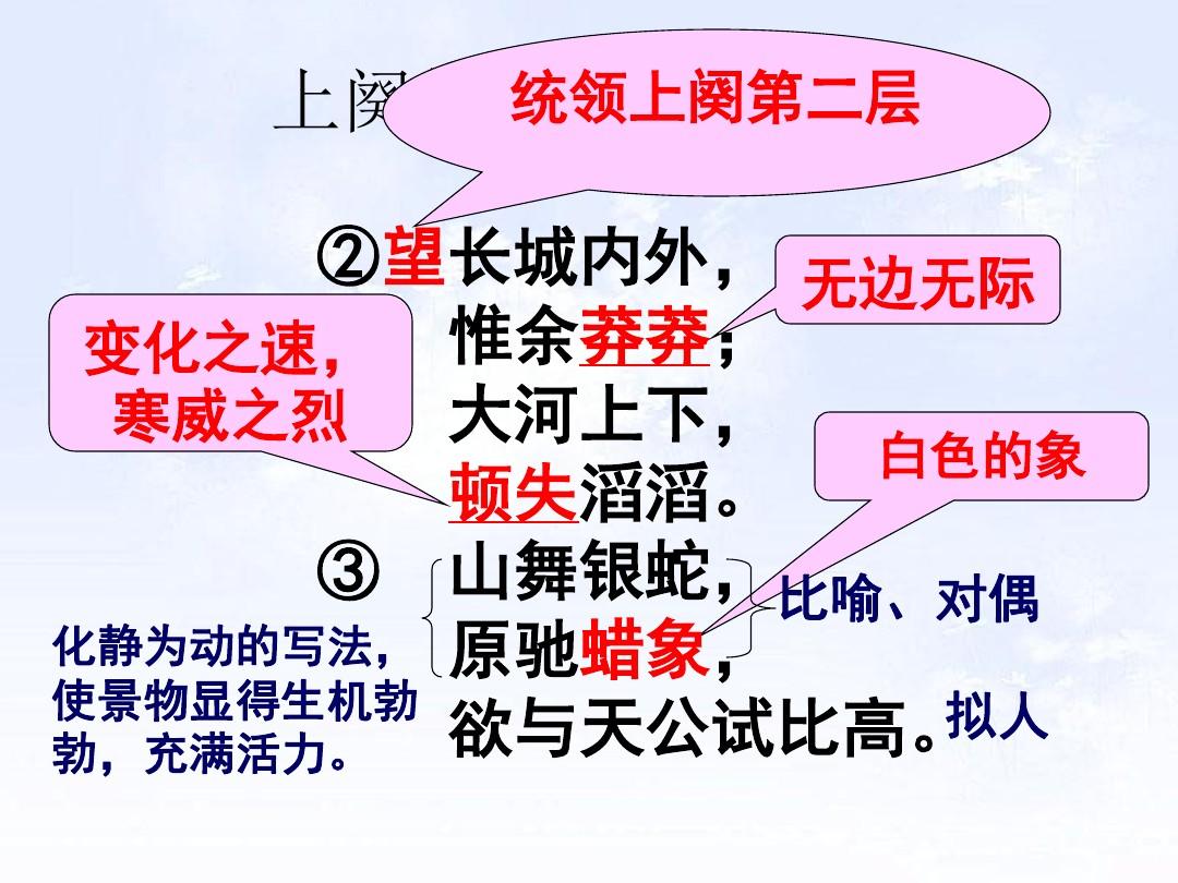 1 沁园春•雪PPT及配套教学设计方案的第9张ppt图片预览