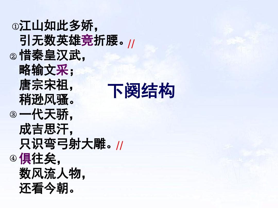1 沁园春•雪PPT及配套教学设计方案的第13张ppt图片预览