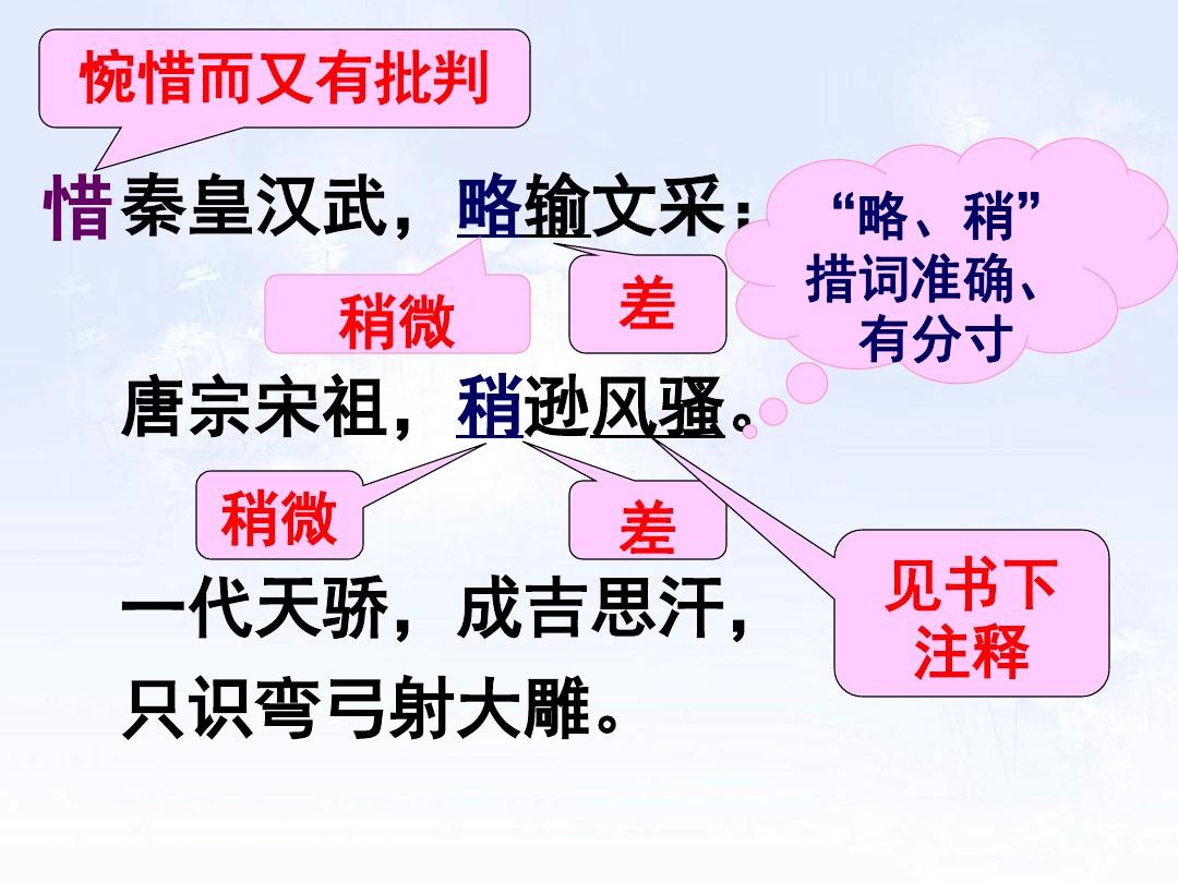 1 沁园春•雪PPT及配套教学设计方案的第15张ppt图片预览