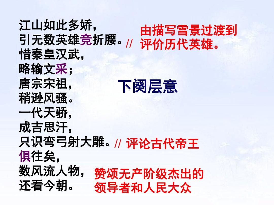 1 沁园春•雪PPT及配套教学设计方案的第18张ppt图片预览