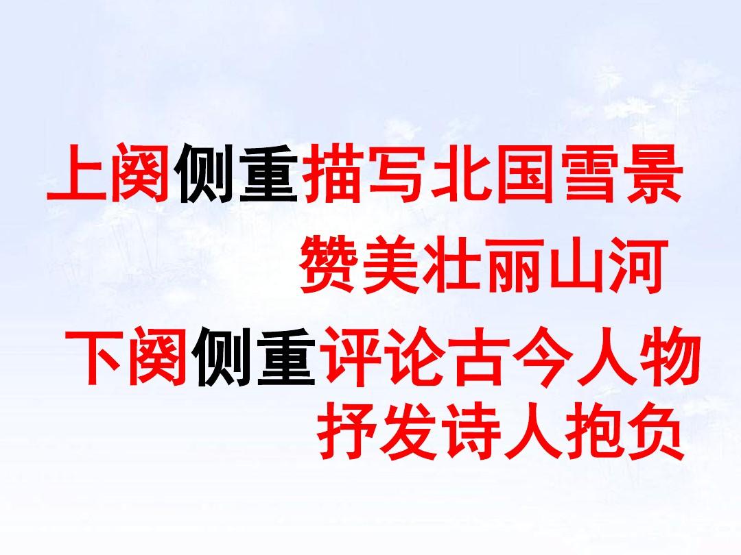 1 沁园春•雪PPT及配套教学设计方案的第20张ppt图片预览